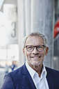 Portrait of confident businessman outdoors - RORF00418
