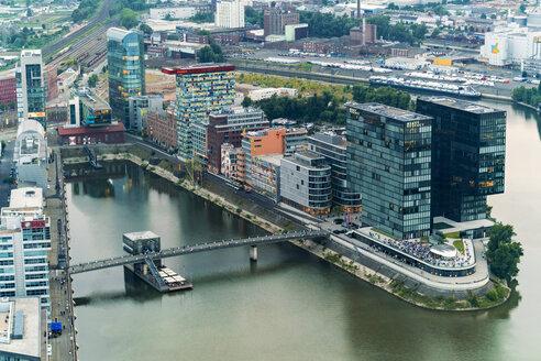 Germany, Duessseldorf, aerial view of Media Harbor - TAMF00747
