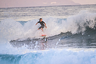Spain, Tenerife, boy surfing in the sea - SIPF00996