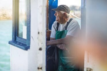Fisherman working on trawler - ZEF11396