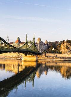 Hungary, Budapest, bridge above Danube River - JLRF00085