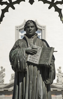 Germany, Lutherstadt Wittenberg, monument of Martin Luther - BTF00417
