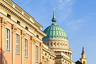 Germany, Potsdam, statehouse formerly city palace with St. Nicholas church in the background - WDF03774