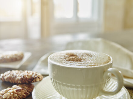Cup of Cappuccino sprinkled with cinnamon powder - RORF00426