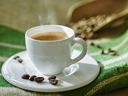 Steaming cup of coffee - RORF00429