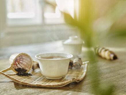 Bowl of steaming tea - RORF00435