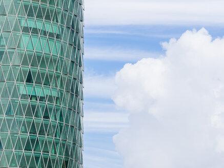 Germany, Frankfurt, part of facade of Westhafen Tower - KRP02026