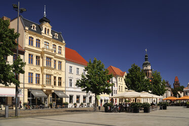 Germany, Brandenburg, Cottbus, Historical buildings at the Altmarkt - BT00444
