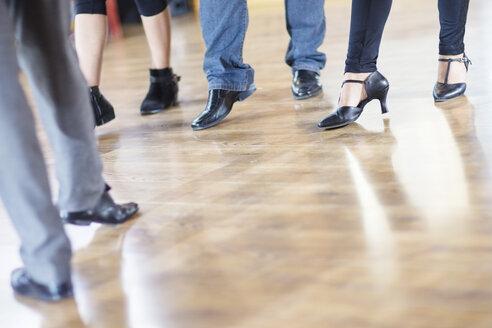 Dance class footwork in studio - ZEF11720