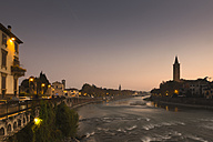 Italy, Verona, Adige after sunset - FCF01119