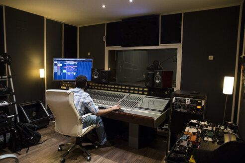 Musical recording in a recording studio - ABZF01543