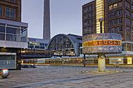 Germany, Berlin, world clock at Alexanderplatz - GF00877