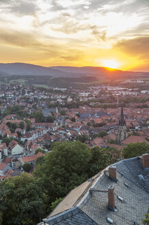 Germany, Saxony-Anhalt, Wernigerode at sunset - PVCF00907