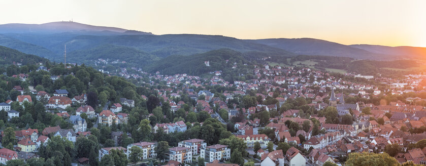 Germany, Saxony-Anhalt, Wernigerode at sunset - PVCF00913