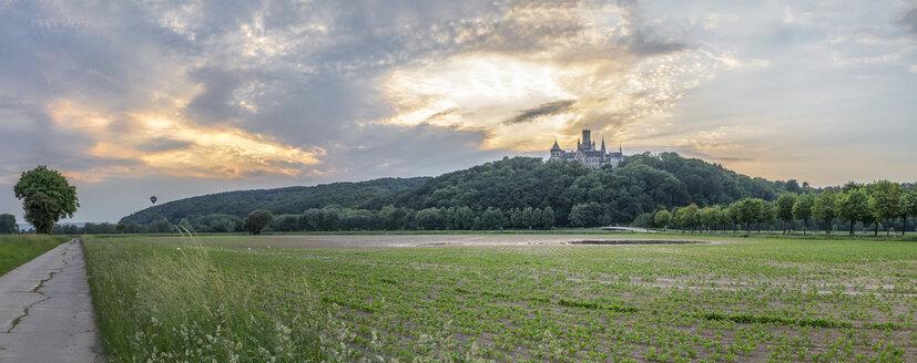 Germany, Lower Saxony, Nordstemmen, Marienburg Castle at sunset - PVC00919