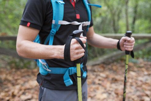 Hiker with walking sticks - RAEF01540