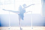 Ballet dancer practising in studio - ZEF11782