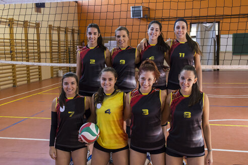 Happy female volleyball team - ABZF01571