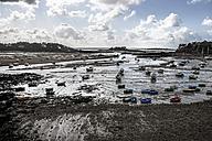 France, Lancieux, boats at low tide - FMKF03257