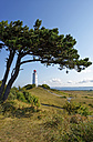 Germany, Hiddensee, Dornbusch, view to landscape and lighthouse - LHF00511