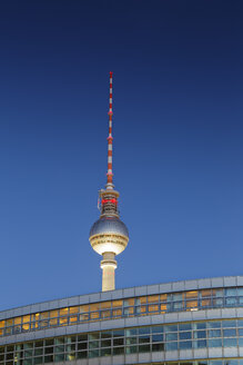 Germany, Berlin, view to television tower at Alexanderplatz - GFF00907