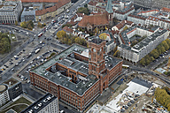 Germany, Berlin, Red Town Hall seen from above - GFF00913