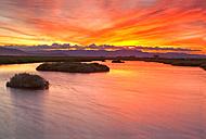Spain, Tarragona, Ebro Delta, Tancada lagoon at sunset - DSGF01170