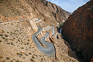 Morocco, Ouarzazate, road in the gorge of Dades - KIJF01002