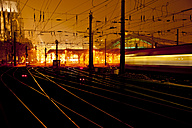 Germany, Cologne, Central station at night - CSF27853