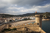 Spain, Costa Brava, Tossa de Mar, view from the Old Town - ABOF00127