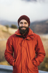 Portrait of happy hiker - KKAF00157