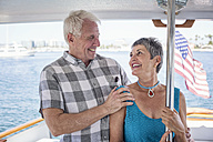 Smiling couple on a boat trip - WESTF22207