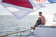 Young couple on a boat trip - WESTF22222