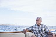 Senior man on a boat trip - WESTF22231