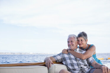 Smiling couple on a boat trip - WESTF22234