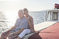 Affectionate couple on a boat trip - WESTF22252