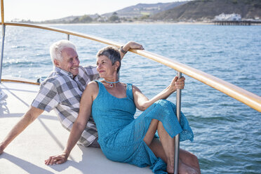 Happy couple on a boat trip - WESTF22255