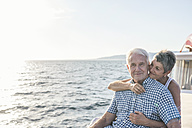 Affectionate couple on a boat trip - WESTF22288
