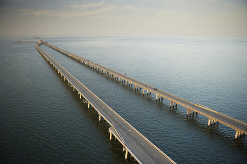 USA, Aerial photograph of the Chesapeake Bay Bridge Tunnel - BCDF00263