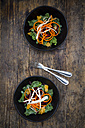 Salad with kale, beetroot, parsnips, carrots, orange and wolfsberries - LVF05679
