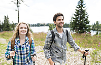 Young couple on a hiking tour - HAPF01188
