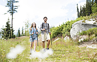 Young couple on a hiking tour - HAPF01191