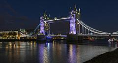 UK, London, Tower Bridge at night - MPAF00110
