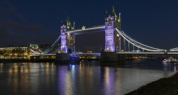 UK, London, Tower Bridge at night - MPAF00110