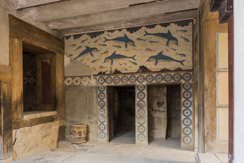 Greece, Crete, archeological site of Knossos, indoor view - KA00185