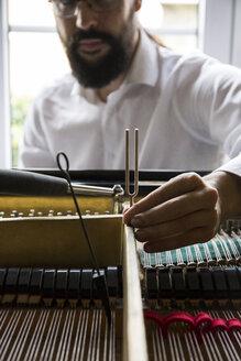 Piano tuner tuning grand piano - ABZF01606