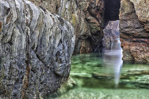 Spain, Asturias, The cliffs of El Silencio Gavieira near Cudillero - DSGF01280