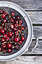 Zinc bowl of sweet cherries - GWF04917