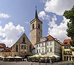 Germany, Erfurt, view to St Giles Church at Wenigemarkt - BT00455