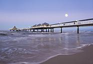 Germany, Usedom, Heringsdorf, pier in the evening - SIEF07215